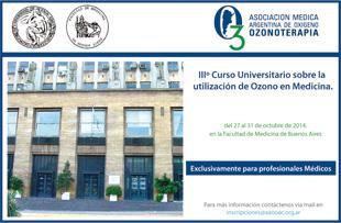IIIº Curso Superior Universitario Sobre la Utilización del Ozono en Medicina